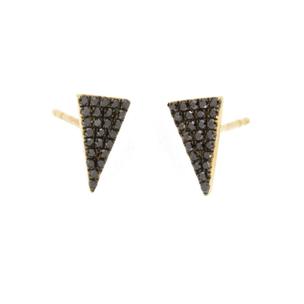 Black Diamond Baby Triangle Studs