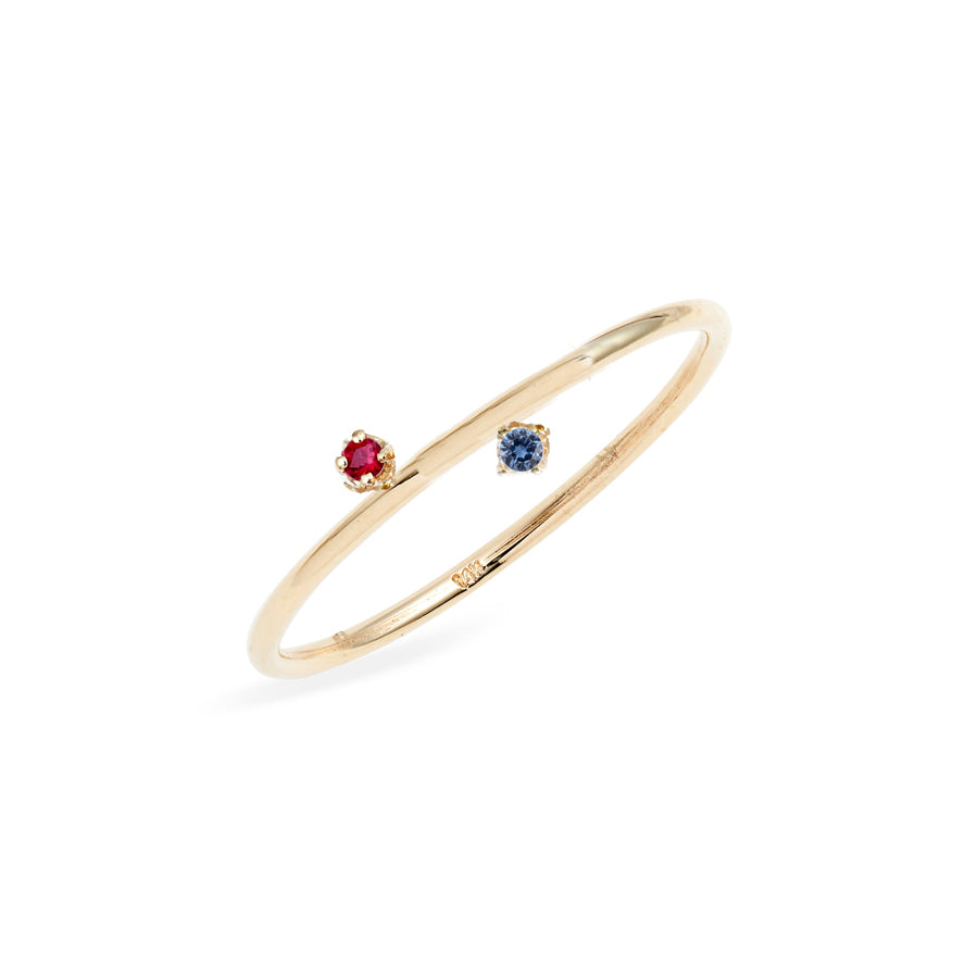 Duo Ruby Sapphire Ring