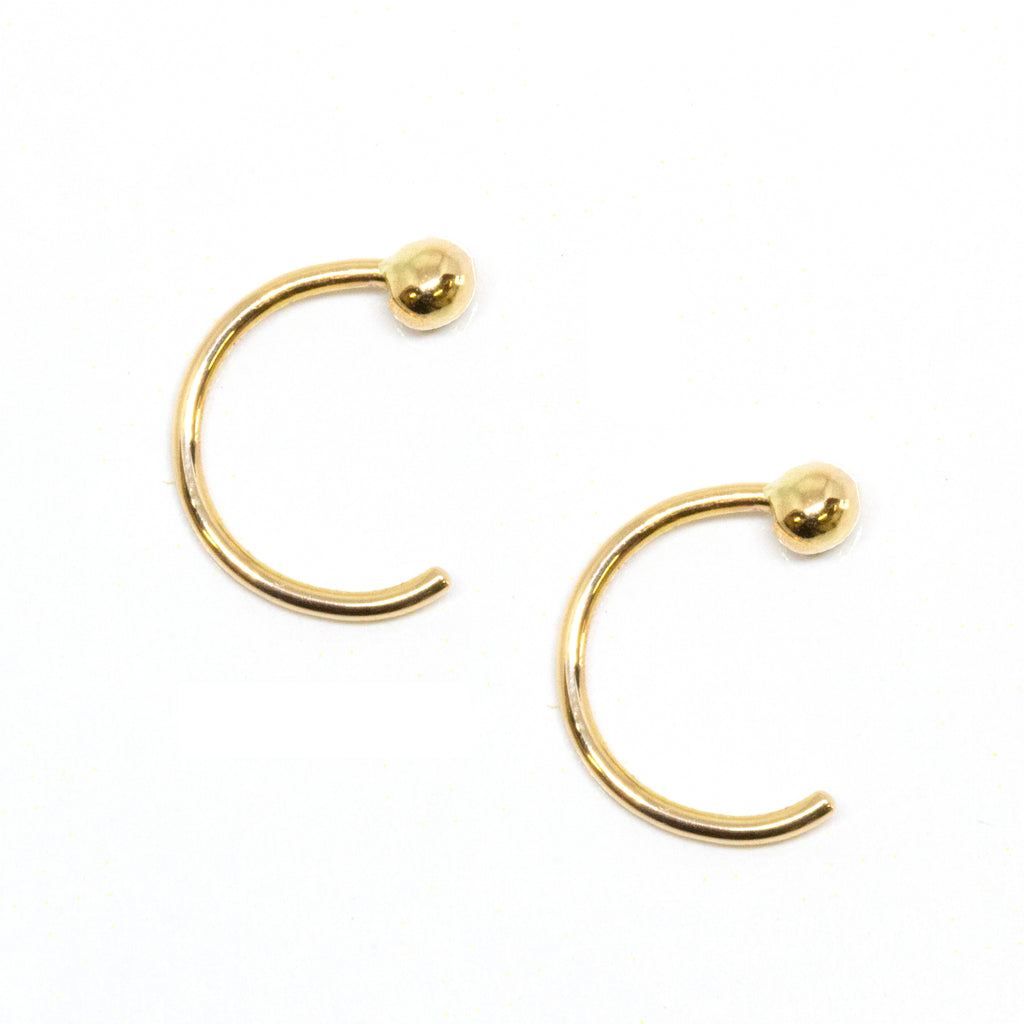 Gold Dot Huggie Earrings