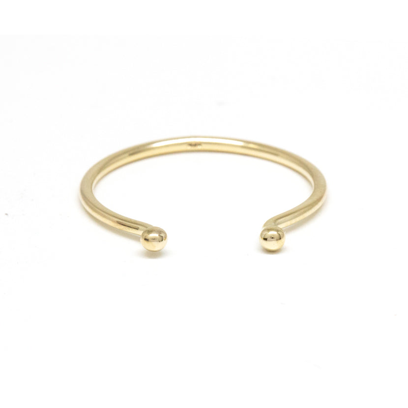 Gold Dot Open Ring