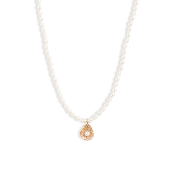 Gold Petal Keshi Pearl Necklace