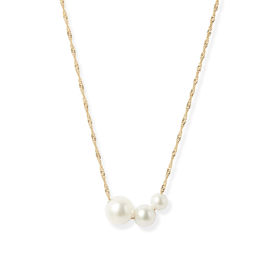 Gradual Pearl Pendant Necklace
