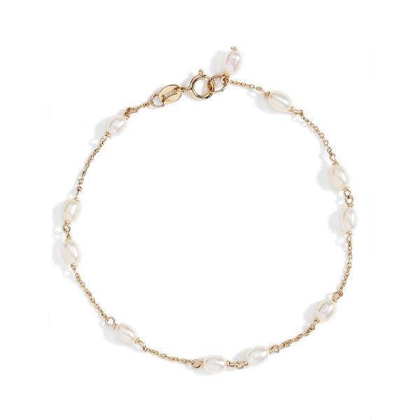 Spaced Keshi Pearl Bracelet