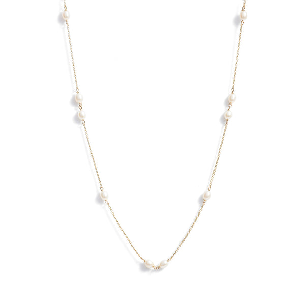 Spaced Keshi Pearl Necklace