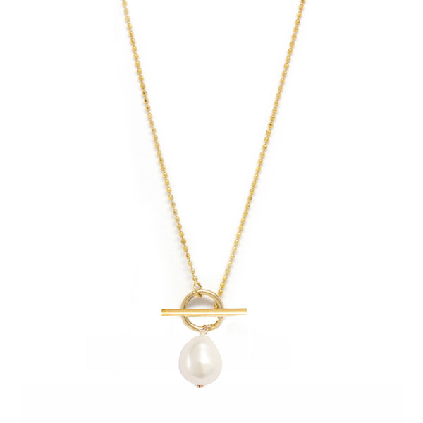Baroque Pearl Toggle Necklace