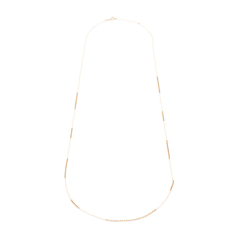 18K Yellow Gold Shimmer Necklace