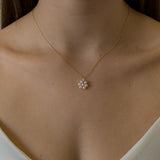 Pearl Flower Pendant Necklace