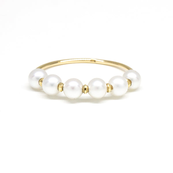 Pearl Shimmer Bead Ring