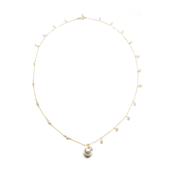 Mix Pearl Baroque Pendant Necklace