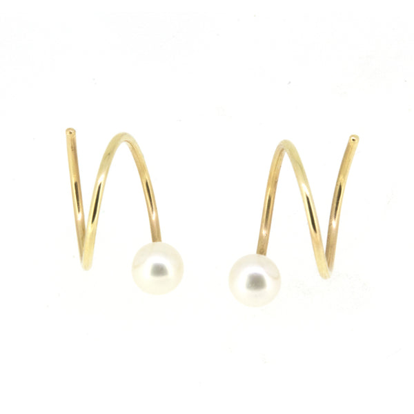 Pearl Spiral Earrings