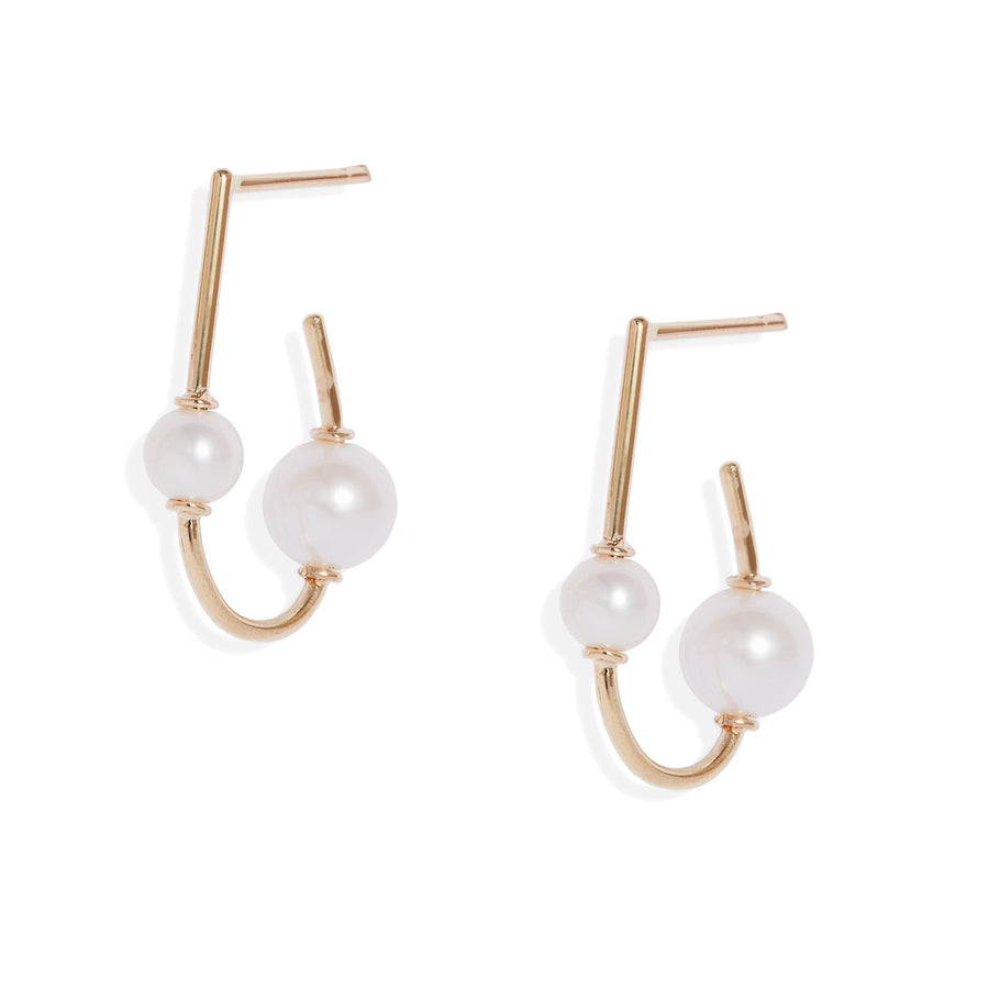 Duo Pearl Wrap Earrings