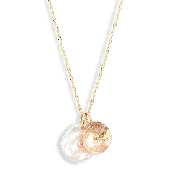 Duo Petal Pendant Necklace