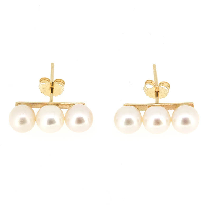 Triple Pearl Earrings