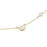 White Topaz Pearl Necklace