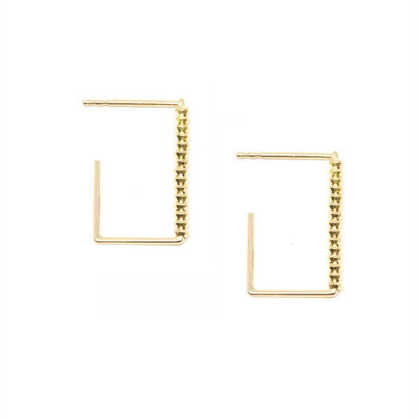 Shimmer Rectangular Earrings