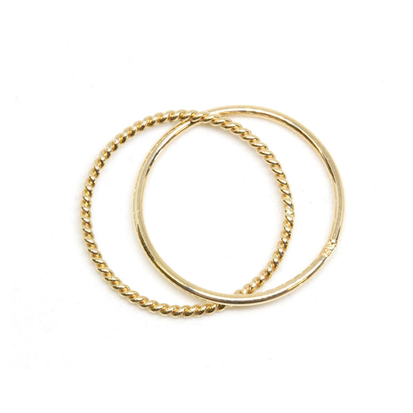 Skinny Gold Crisscross Ring