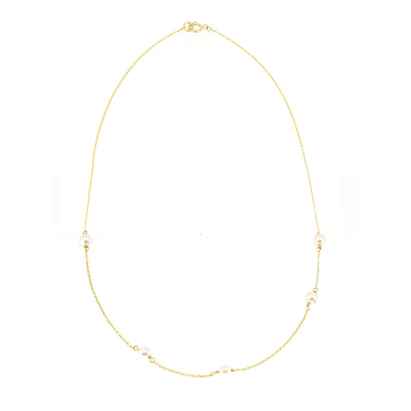 Spaced Pearl Necklace