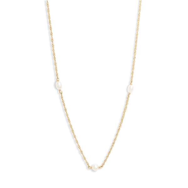 Pearl Station Shimmer Necklace