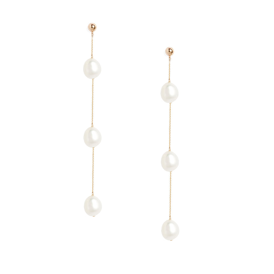 Triple Baroque Pearl Earrings