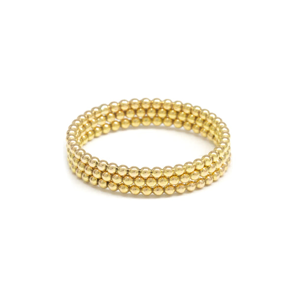 Triple Bead Gold Ring