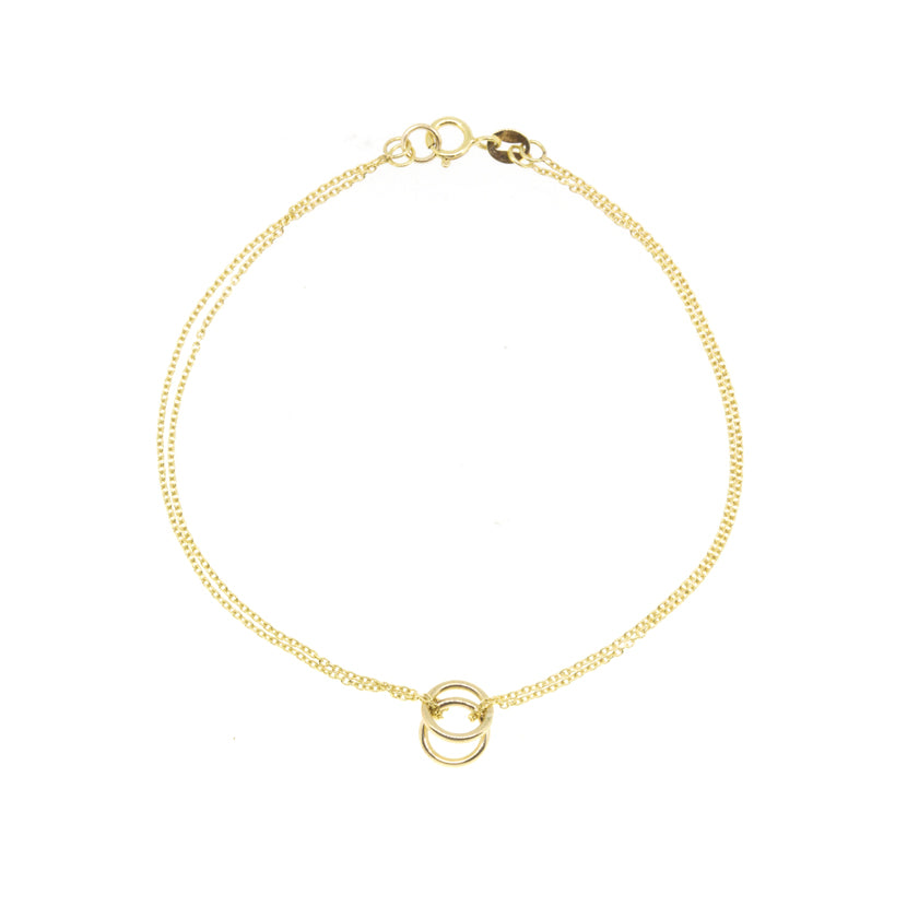 Twin Gold Orb Bracelet