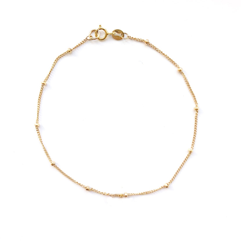 Gold Bead Chain Bracelet