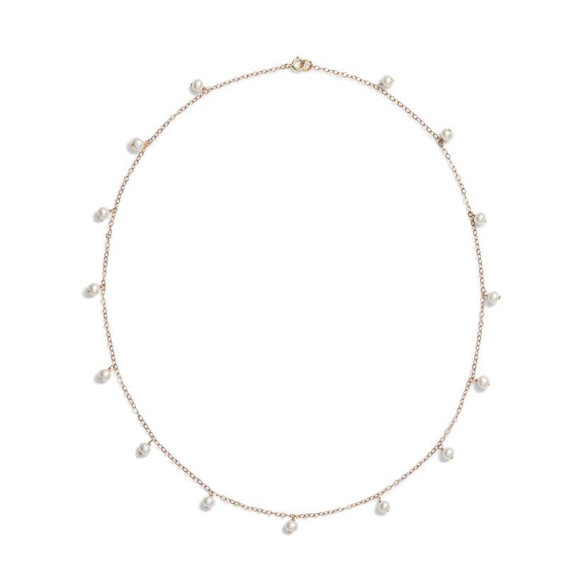 Baby Pearl Station Necklace