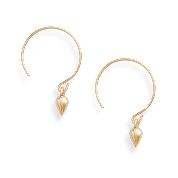 Gold Drop Baby Hoop Earrings
