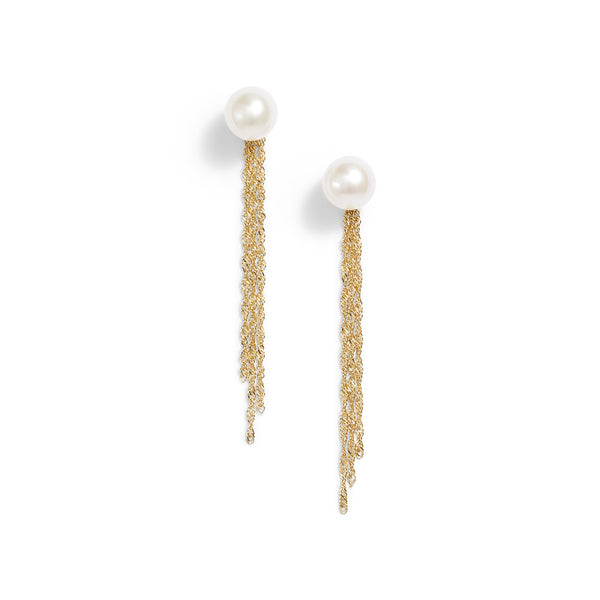 Pearl Tassel Jacket Earrings