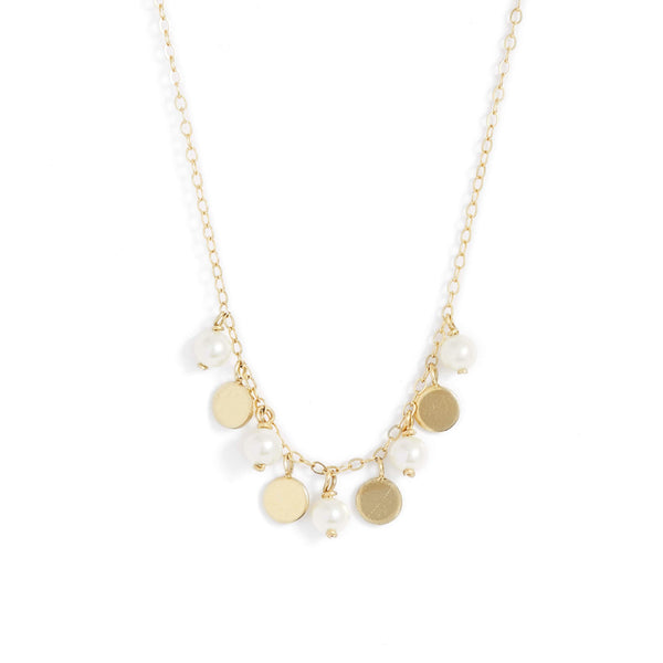 Pearl Gold Confetti Necklace