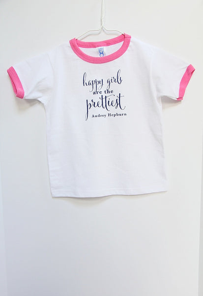 Happy Girls Are the Prettiest ringed t-shirt