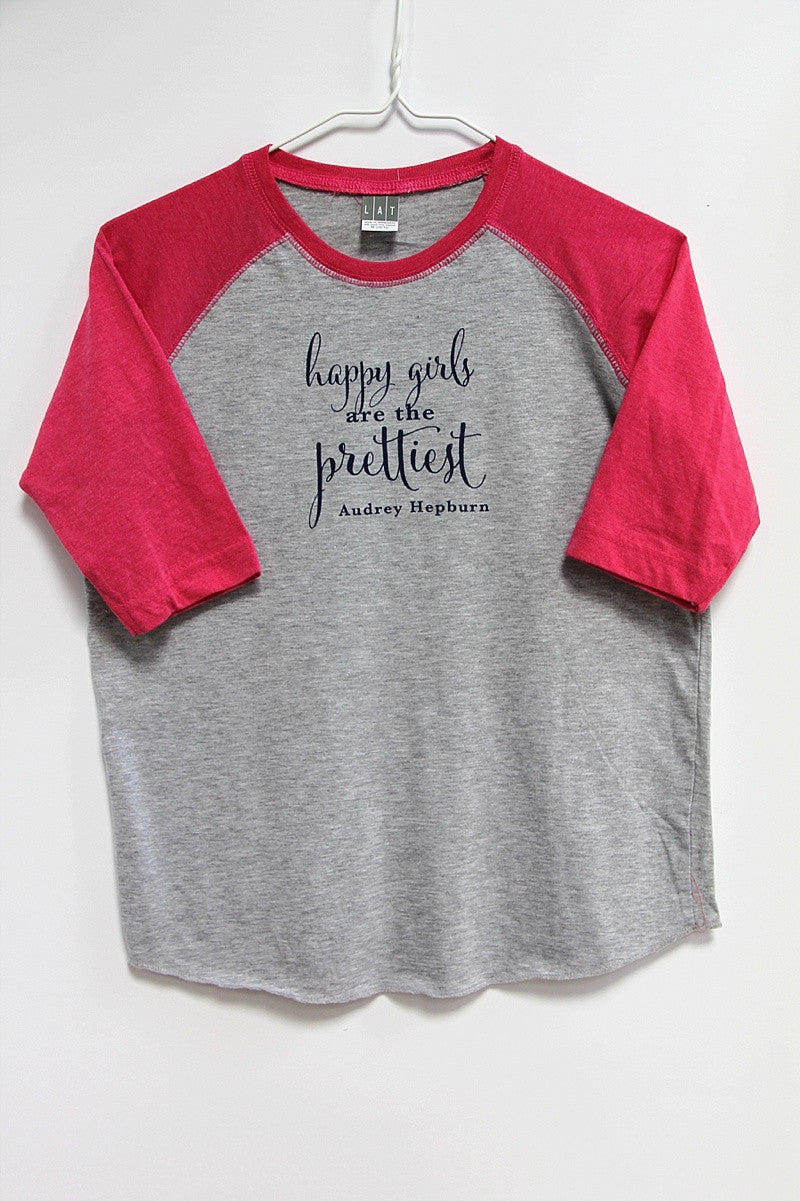 Happy Girls Are the Prettiest baseball t
