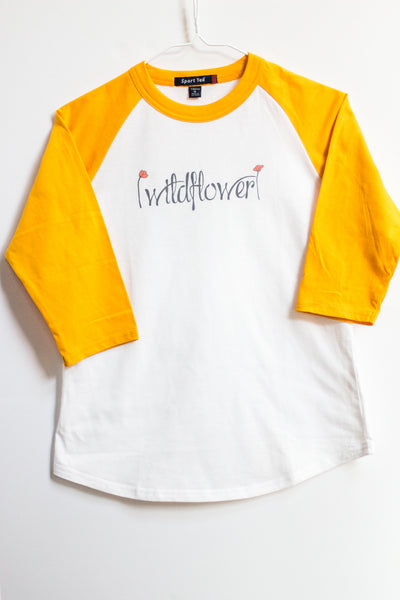 Wildflower girls baseball T