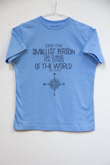Smallest Person Blue Kids T- shirt
