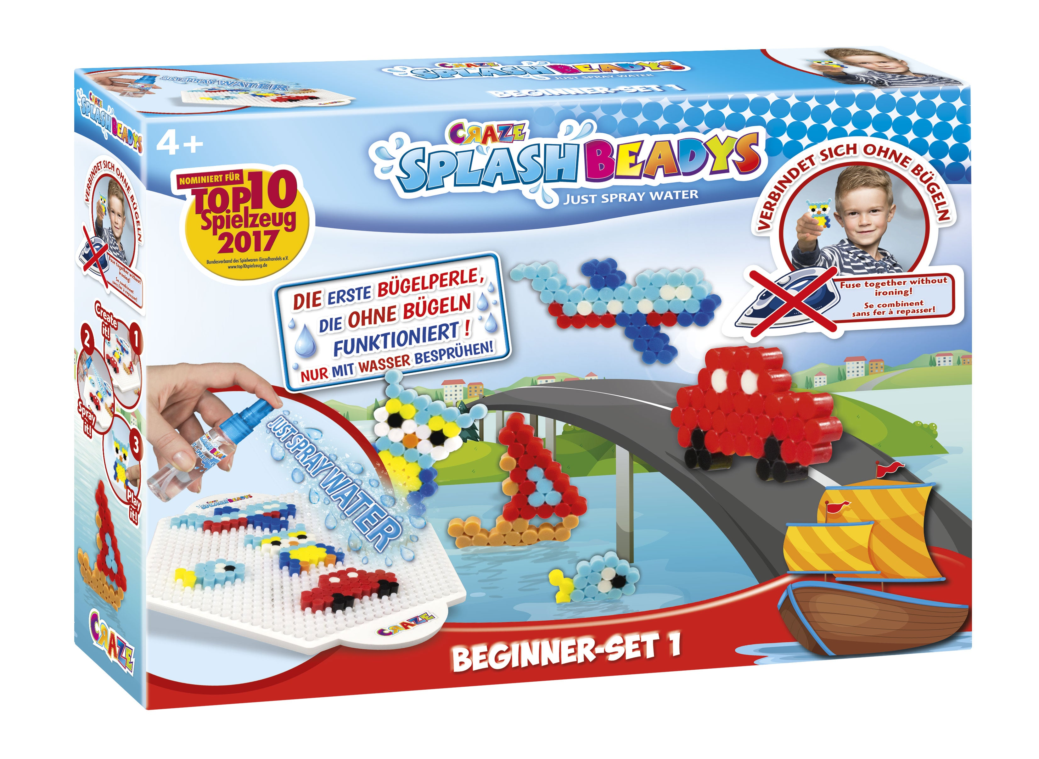 CRAZE Splash Boys 15278 Beadys – Beginner Set, Multi-Colour - Wild Willy
