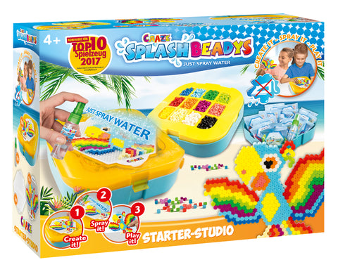 Craze Splash Beadys Set, Ironing Beads, Non-Iron, SPLASH BEADYS Starter-Studio - Wild Willy - Toys Lebanon