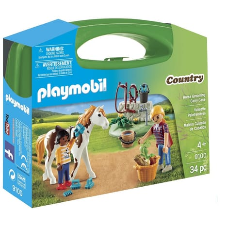 Playmobil Country Horse Grooming Carry Case . - Wild Willy - Toys Lebanon