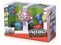 MS TECH CRASH N BASH ROBO FIGHTERS TWIN PACK - Wild Willy - Toys Lebanon