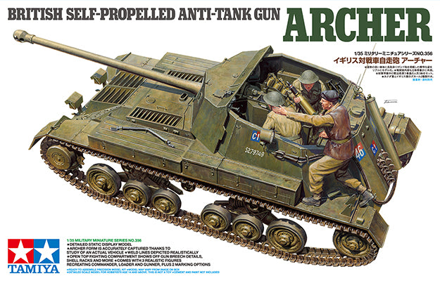 TAMIYA BRITISH SELF-PROPELLED ANTI TANK ARCHER 35356 - Wild Willy - Toys Lebanon