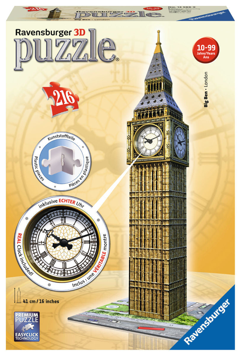 Big Ben 3D Puzzle, with Clock - Wild Willy