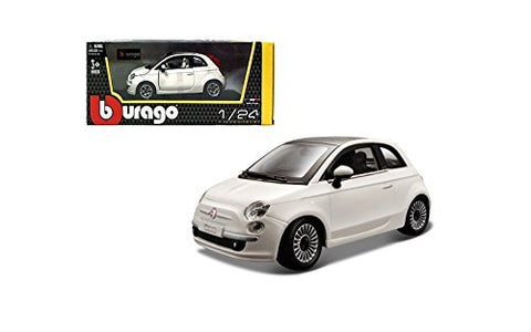 BU FIAT 500 2007 WHITE 1:24 - Wild Willy - Toys Lebanon