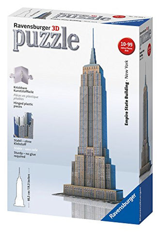 3D Empire State Building 216 Piece Puzzle - Wild Willy