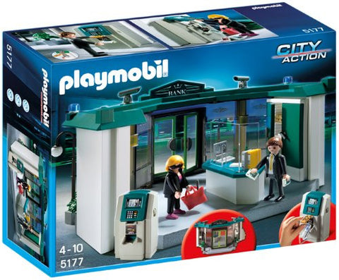 Playmobil 5177 City Action Bank with Safe - Wild Willy - Toys Lebanon