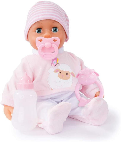 BAYER  FIRST WORDS BABY 24FN PINK 38CM 93824AW - Wild Willy - Toys Lebanon