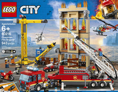 LG CITY FIRE STATION WITH WATER PUMP 6+ 60216 - Wild Willy - Toys Lebanon