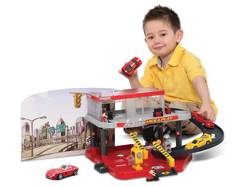 Bburago Ferrari Race and Play Auto Service - Wild Willy - Toys Lebanon