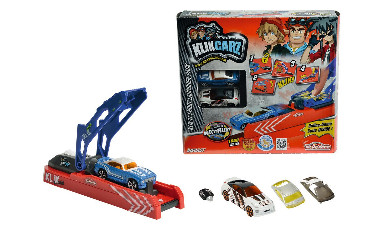 majorette click car shoot launcher pack 050101 - Wild Willy - Toys Lebanon