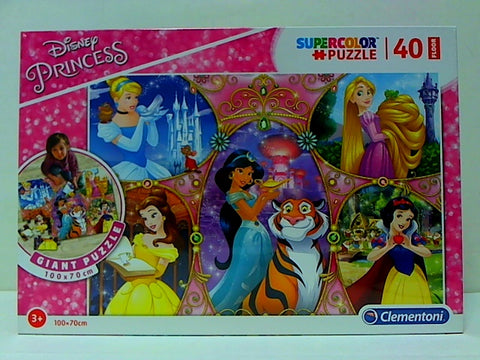 CL 40PCS SUPERCOLOR FLOOR DISNEY PRINCESSES 3+ 100*70CM - Wild Willy - Toys Lebanon