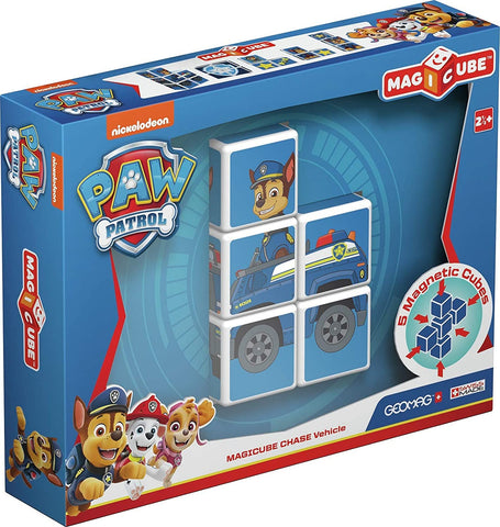 Geomag MAGICUBE PAW PATROL CHASE VEHICLE GM079 - Wild Willy - Toys Lebanon