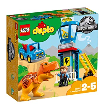 LG DUPLO JURASSIC WORLD T.REX TOWER 10880 2-5 - Wild Willy - Toys Lebanon